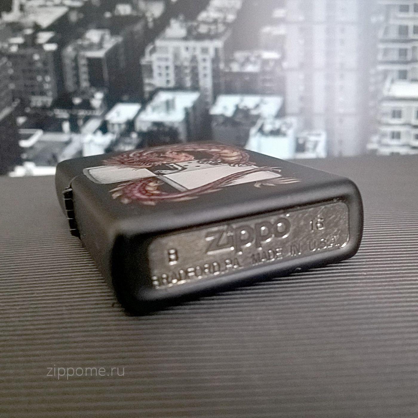 Zippo 218 Oriental Dragon Black Matte