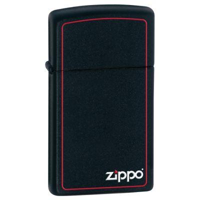 Zippo 1618ZB Slim Logo Border